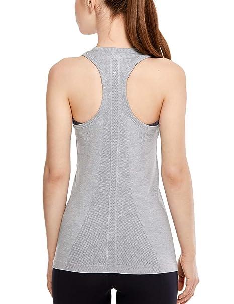 CRZ YOGA - Camiseta Espalda Nadadora Deportiva Mujer sin ...