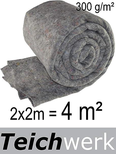 1,51€//m² Vlies 20 m² Teichvlies 300g //m² 1 m breit Schutzvlies Teichflies Teich