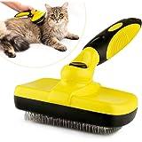 MG+ Cepillos para Perros y Gatos, Cepillo de Limpieza automática para Mascotas, con Cerdas Retráctiles para Retirar el Exceso