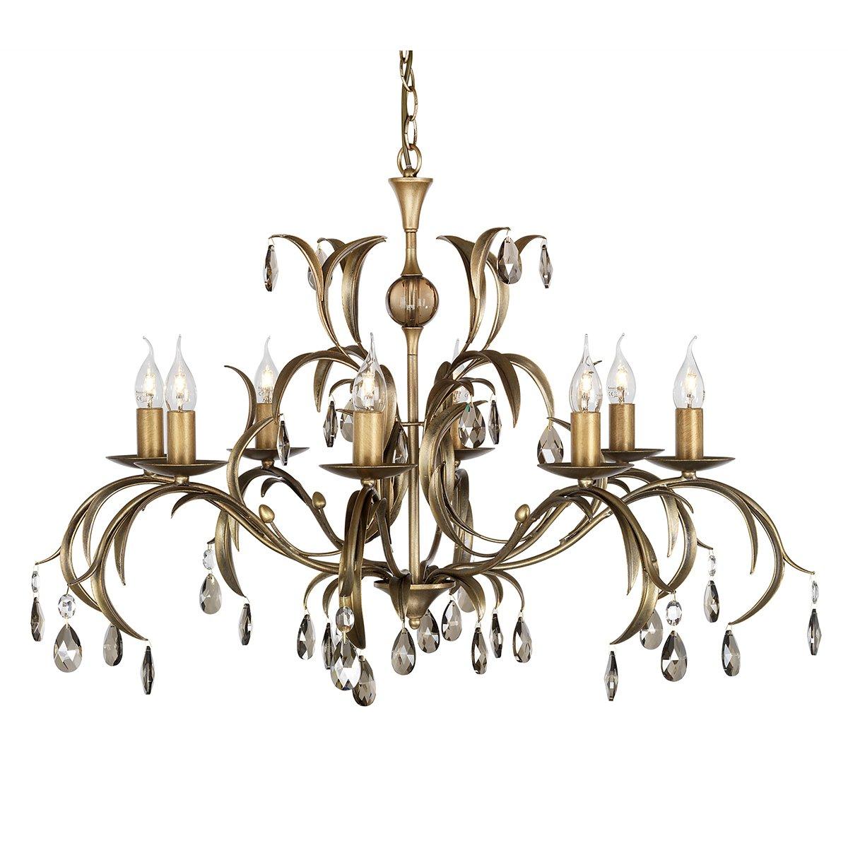 Elstead Lighting Wandlampe Lily 8 Licht Kronleuchter Deckenleuchte Antik Bronze LL8 ANT BRZ