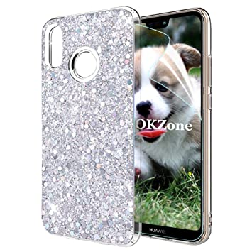 OKZone Funda Huawei P20 Lite Carcasa Purpurina, Cárcasa Lujosa Brilla Glitter Brillante TPU Silicona Teléfono Smartphone Funda Móvil Case [Protección ...
