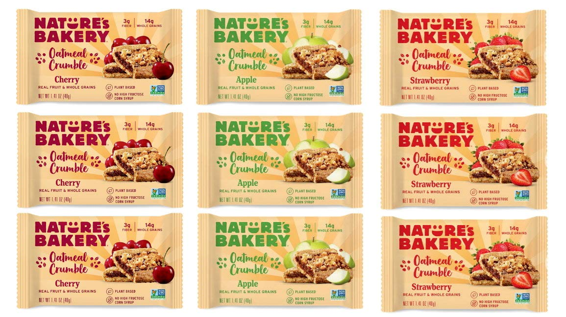 Nature's Bakery Oatmeal Crumble Bar Variety Sampler 9ct 1.41oz