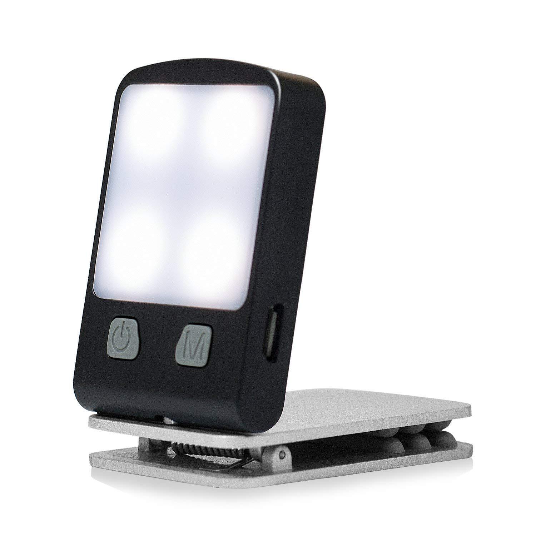 Luz de Libro Recargable, Toolove Lámpara de Lectura USB Portátil con 4 Brillo Ajustable, Clip LED en La Cama para el Cuidado de la Vista y Batería Incorporada, Regalo Perfecto para Libros, Kindle, iPad, eReader, eBook, Trabajo, Viajes, etc.