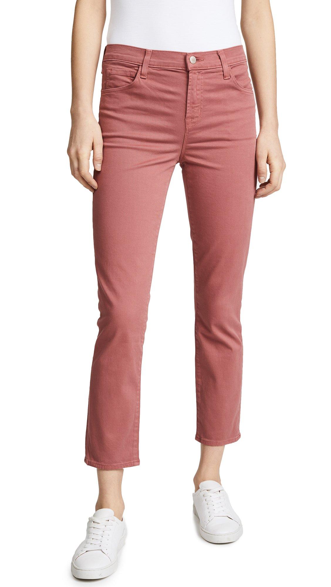 J Brand Women's Ruby High Rise Crop Jeans, Begonia, 26