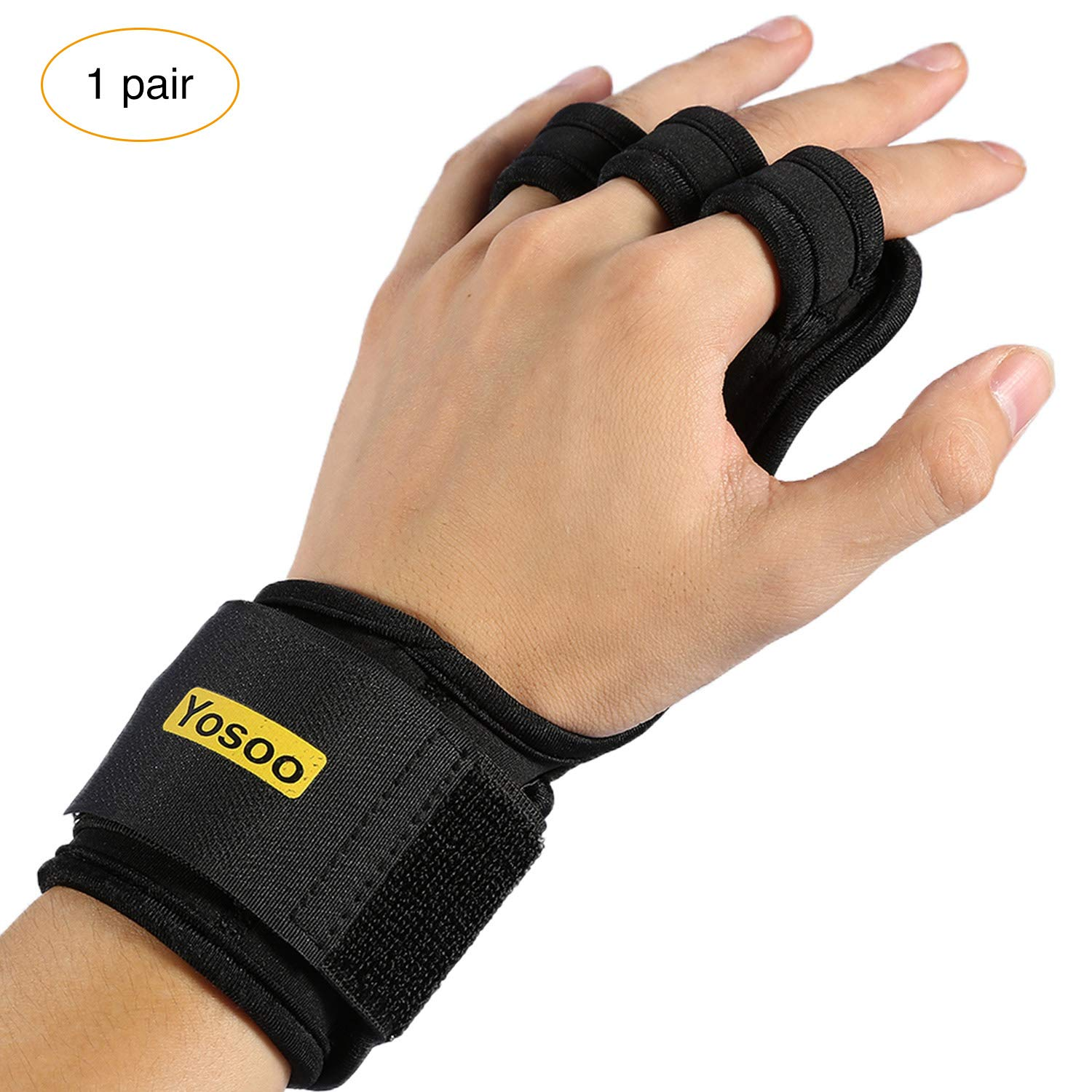 Gym Workout Powerlifting Non-Slip Gymnastics Grips Wrist Support for WODs VGEBY 1Pair Cross Training Gloves