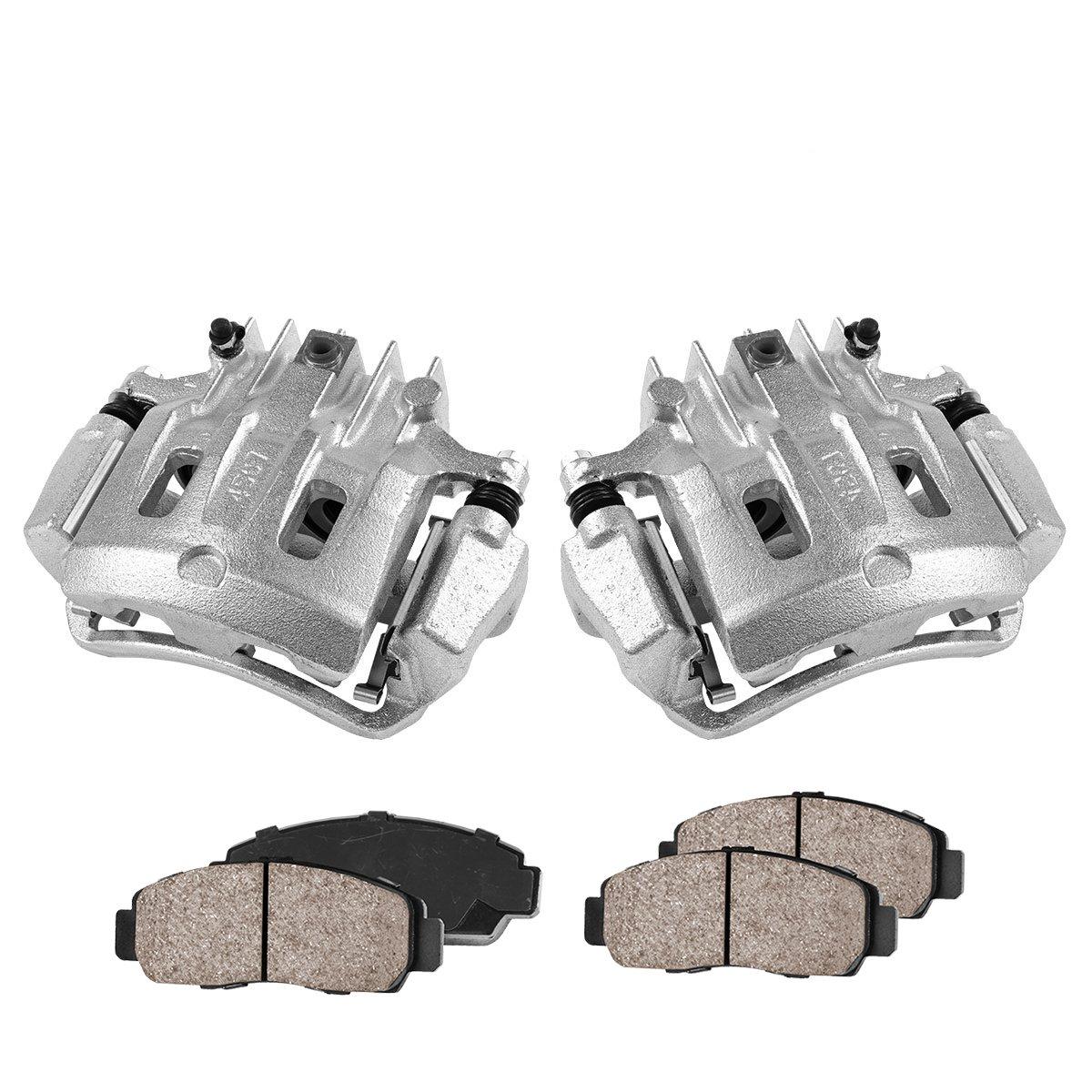 COEK00468 [2] REAR Premium Loaded OE Caliper Assembly Set + Quiet Low Dust Ceramic Brake Pads Callahan Brake Parts