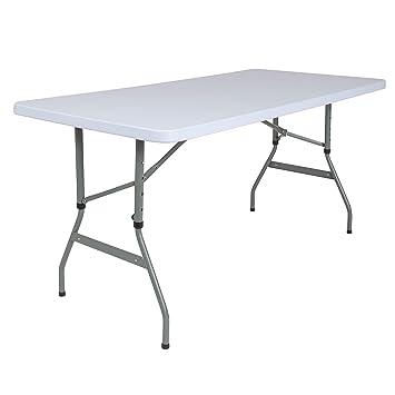 Amazon.com: Flash Furniture RB-3050ADJ-GG - Mesa rectangular ...