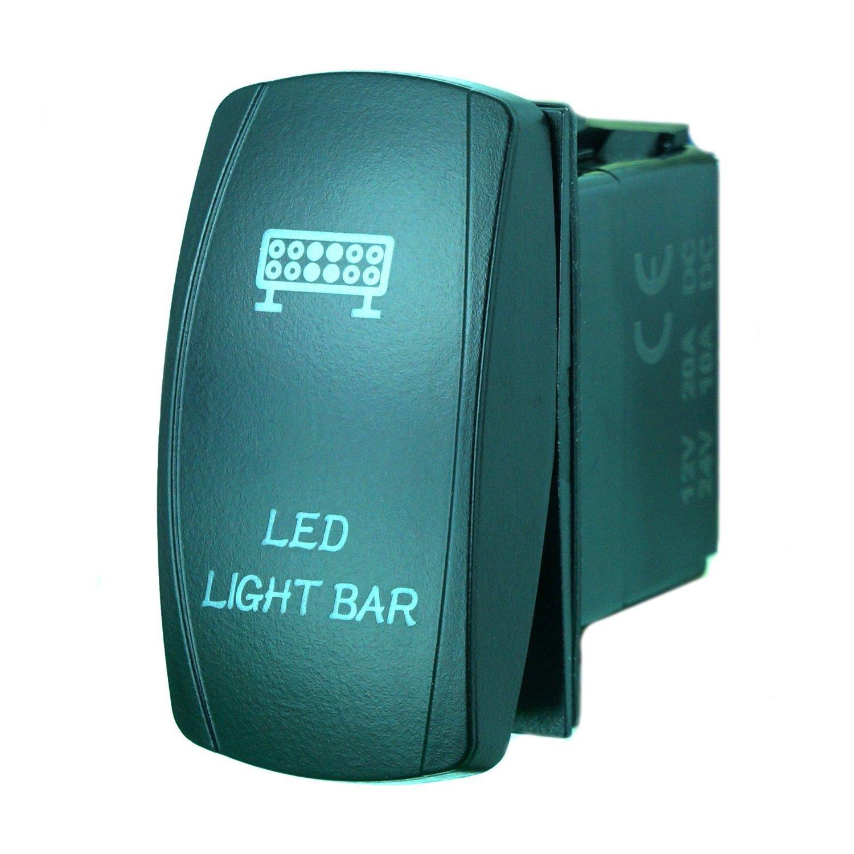 Orange QUNQI STAR 5 pin Laser Backlit Rocker Switch LED LIGHT BAR 20A 12V On//off LED Light Toggle Switch