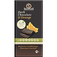 The Sugarless Company A Dark Chocolate and Orange Cream with stevia, 100 g