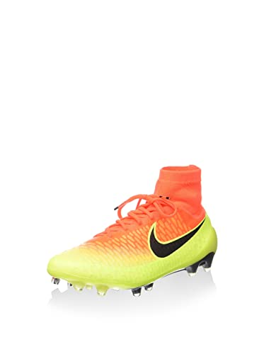 new concept 55bee 4ecf4 Nike Men s Magista Obra FG Total Crimson Black Volt Bright Citrus Shoes - 9A