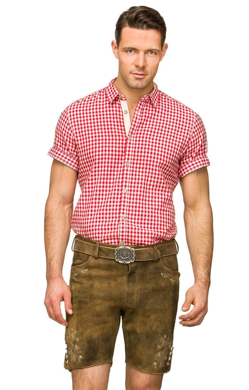 Lederhose mit Gürtel Corbi3 - die kurze Trachtenlederhose von Stockerpoint, modern und sexy, kleidet jedes waschechte Mannsbild, eine Trachtenhose mit viel Charme in Havanna