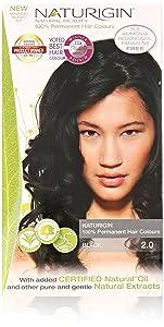 Naturigin Permanent Natural Organic Based Hair Color, Black 2.0 Transformation - 1 Ea
