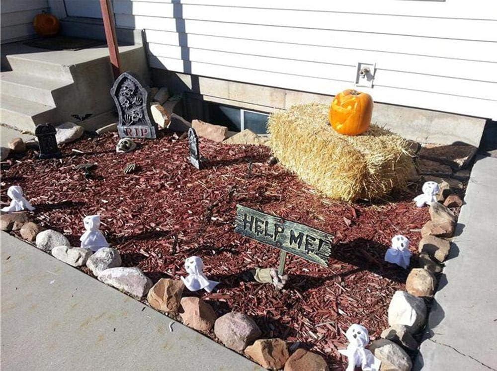 DIVISTAR Decoration Halloween Horror Scary Shape Skull Bone Ornament for Garden Bar Haunted House