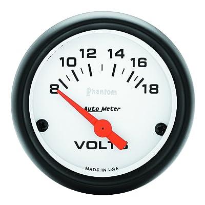 Auto Meter 5791 Phantom Electric Voltmeter Gauge: Automotive