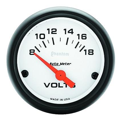 amazon com auto meter 5791 phantom electric voltmeter gauge automotive rh amazon com Auto Meter Pressure Sender Wiring Auto Amp Meter Wiring Diagram