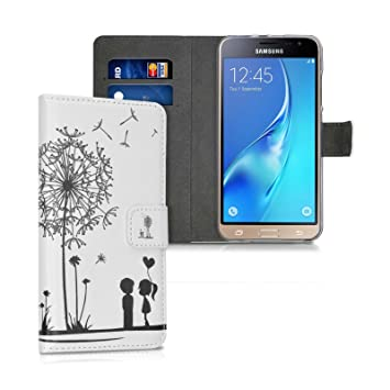 Funda Samsung Galaxy J3 2016 Flip Case Carcasa Con Tapa y Con Cierre Magnético, Color Dont touch my phone - Negro - Ordica France®