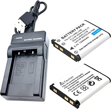 /& Charger Set for DS5370 Digital Camera Battery /& Charger Kit 2-Pack 1200mAh, 3.7V, Li-Ion Sanyo DS5370 Battery