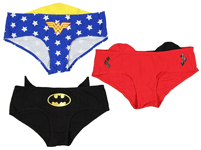 9b86e938433 DC Comics Super Powers Womens Panty 3 Pack (XX-Large) at Amazon Women s  Clothing store