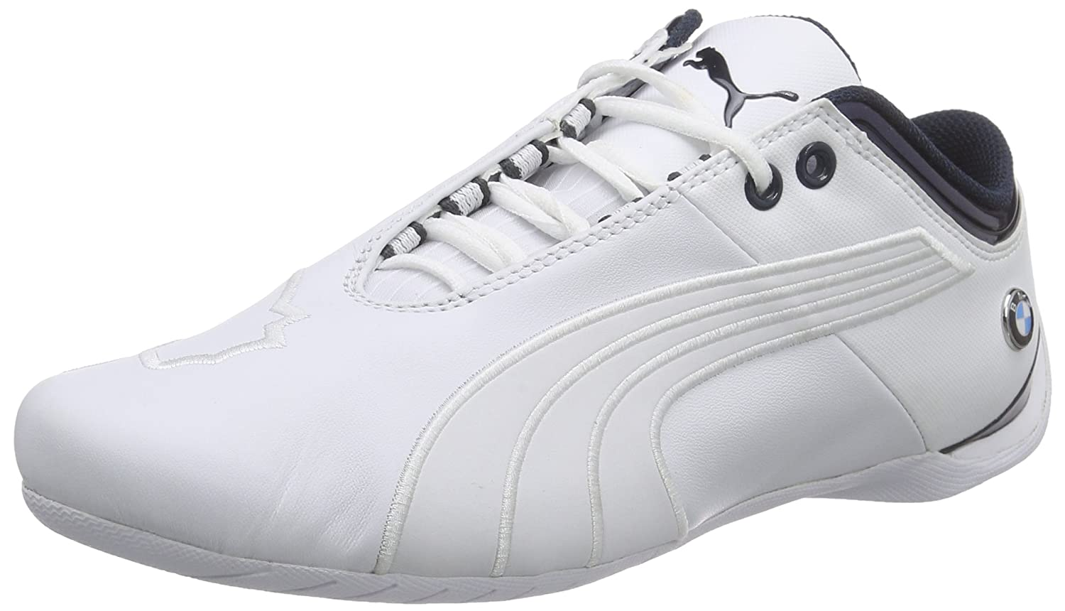 610ce6df785 Puma Men s BMW Ms Future Cat M1 2 White Leather Safety Shoes - 10 UK India  (44.5 EU)  Buy Online at Low Prices in India - Amazon.in