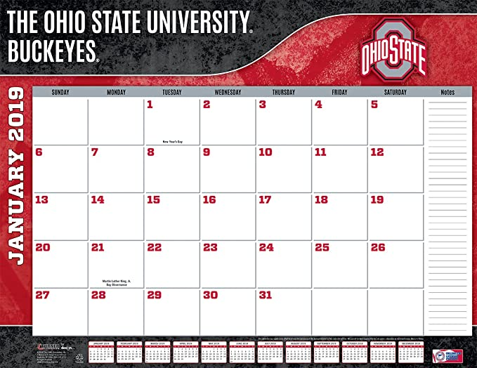 Ohio State Calendar 2019 Amazon.: Turner 1 Sport Ohio State Buckeyes 2019 22X17 Desk