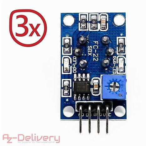 AZDelivery MQ-2 Sensor de Gas y Humo modulo de Calidad del Aire para Arduino con ebook Gratis!: Amazon.es: Electrónica