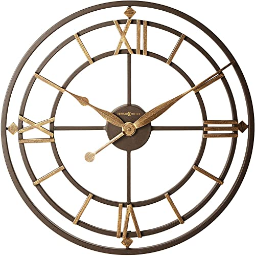 Howard Miller York Station Wall Clock 625-299 Modern Round with Quartz Movement