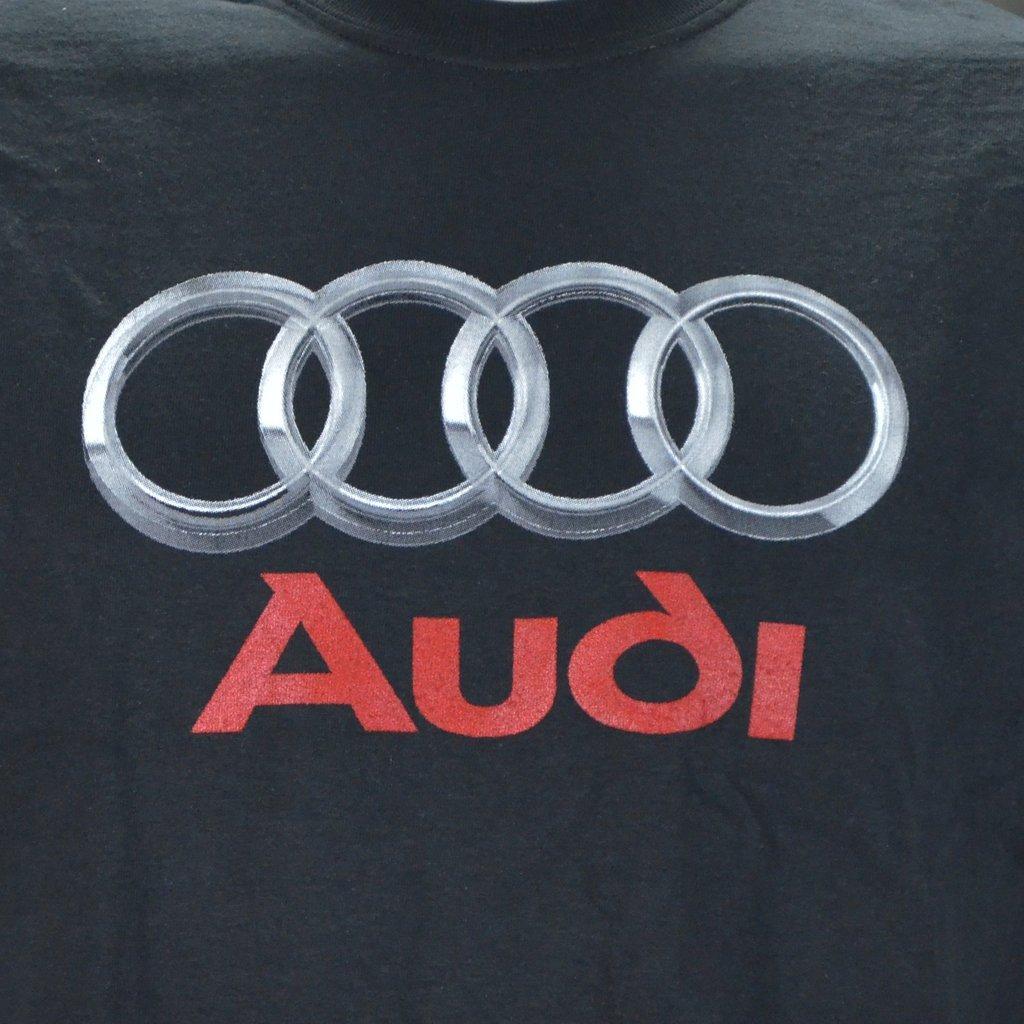 Audi Chrome Photographic Logo on a Black T Shirt