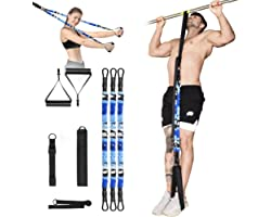 JZBRAIN Pull Up Assist Band, Resistance Bands Set Support Up to 252 LBS, Exercise Bands with Handles, Door Anchor, Leg Sponge