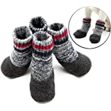 Cotton Dog Socks, Legendog 2 Pairs Dog Paw Protection Waterproof Anti Slip Pet Socks Dog