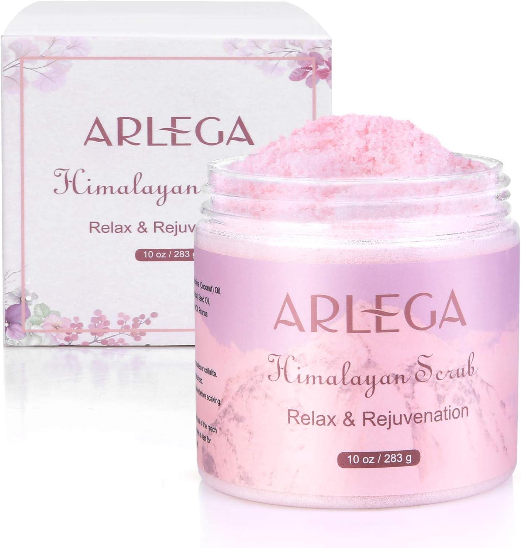 Arlega Himalayan Salt Body Scrub with Strawberry and Coconut Oil, Exfoliating Salt Scrub WAS £15.99 NOW £2.99 w/code GL9N87GZ + £5 voucher @ Amazon