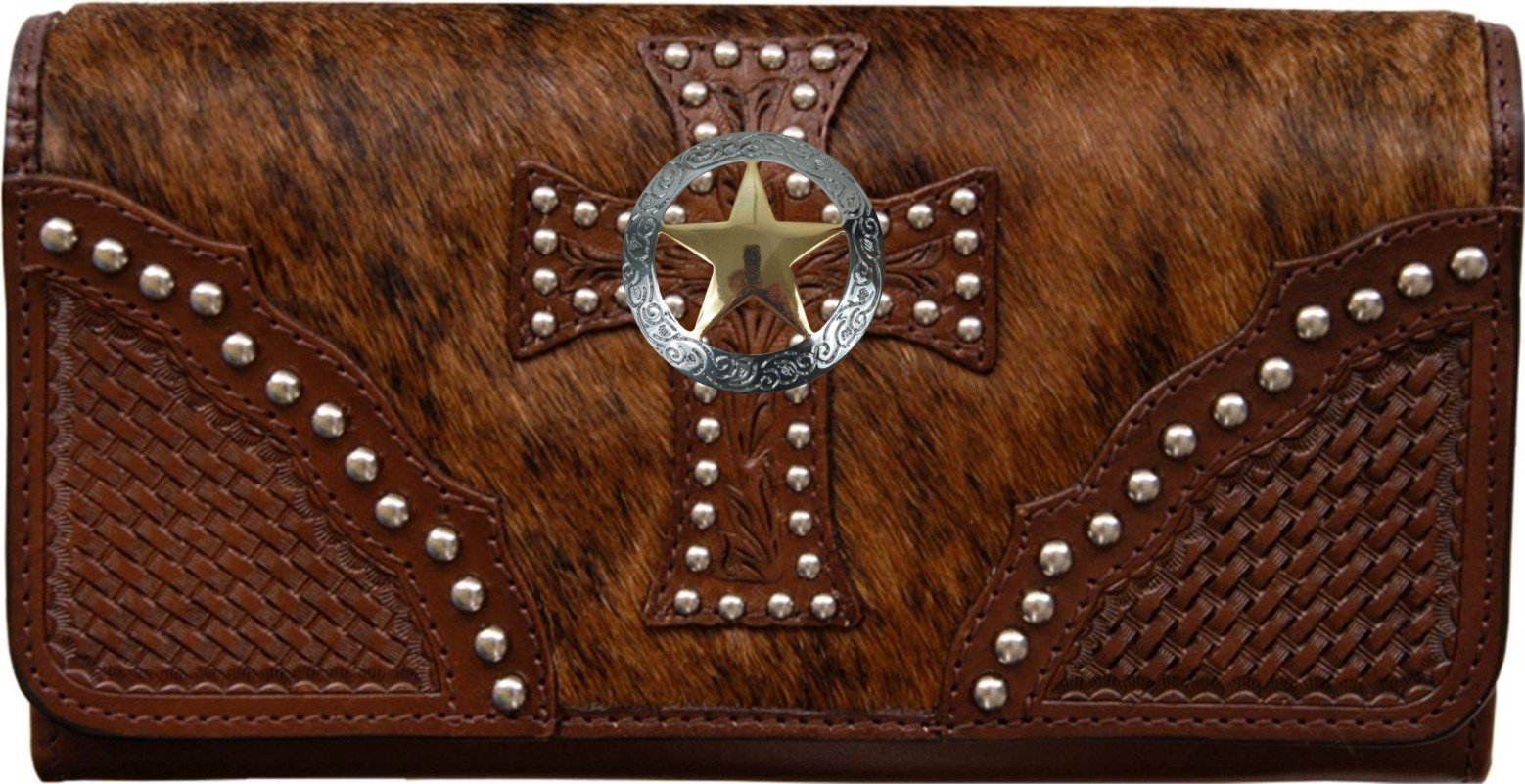Custom Texas Ranger Natural Hair Christian Clutch Wallet with removable checkbook