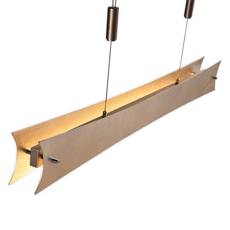 Lampenwelt LED Pendelleuchte 'Ebba' dimmbar (Modern) in Alu aus Metall u.a. für Wohnzimmer & Esszimmer (5 flammig, A+, inkl. Leuchtmittel) | Hängeleuchte, Esstischlampe, Hängelampe, Hängeleuchte
