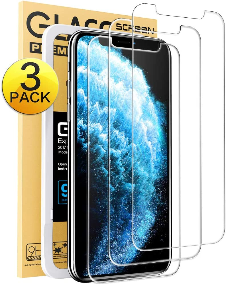 Mkeke Compatible with iPhone 11 Pro Max Screen Protector, iPhone Xs Max Screen Protector, Tempered Glass Screen Protector for iPhone 11 Pro Max & XS Max