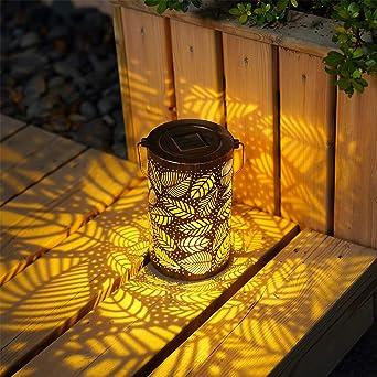 Luces de Linterna Solar, Lámpara Colgante LED Luz Solar IP44 Lámparas Colgantes Luces para Camping, Jardín, Patio, Terraza, Camino (sty2(Hojas)): Amazon.es: Iluminación