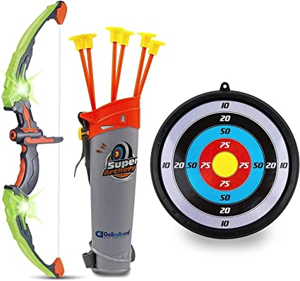 ARCHERY GAME SET TOY FOR FAMILY GARDEN FUN ACTIVITY ARROWS BOW TARGET QUIVER
