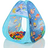 LCP Kids 312 Tenda gioco per bambini pop up TRIANGLE e con 100 palline