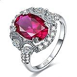 Jrose Sterling Silver Created Ruby/Emerald