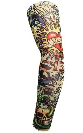 Crasy Shop Stretch Nylon Fake Temporary Tattoo Arm Sleeves Body Art