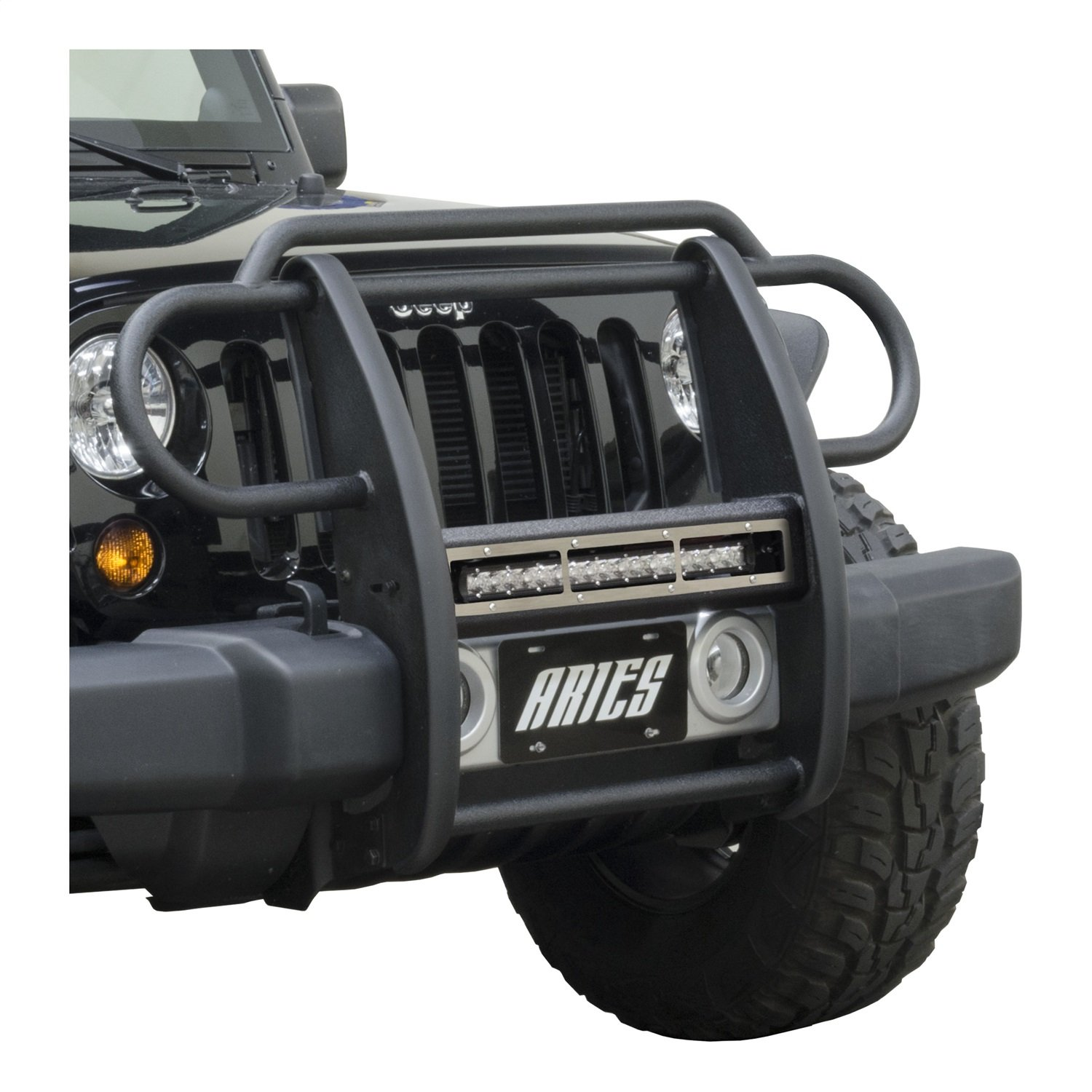 ARIES PJ20OS Pro Series Jeep 20 Brushed Stainless Steel Grille Guard Cover Plate