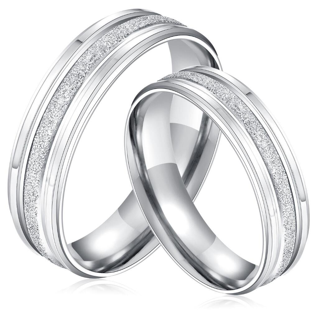 Amazon Fashionlife2018 Wedding Bands Engagement Jewelry Ring For Women Men Stainless Steel Simple Frosted Couples Rings: Simple Unique Wedding Bands For Women At Websimilar.org