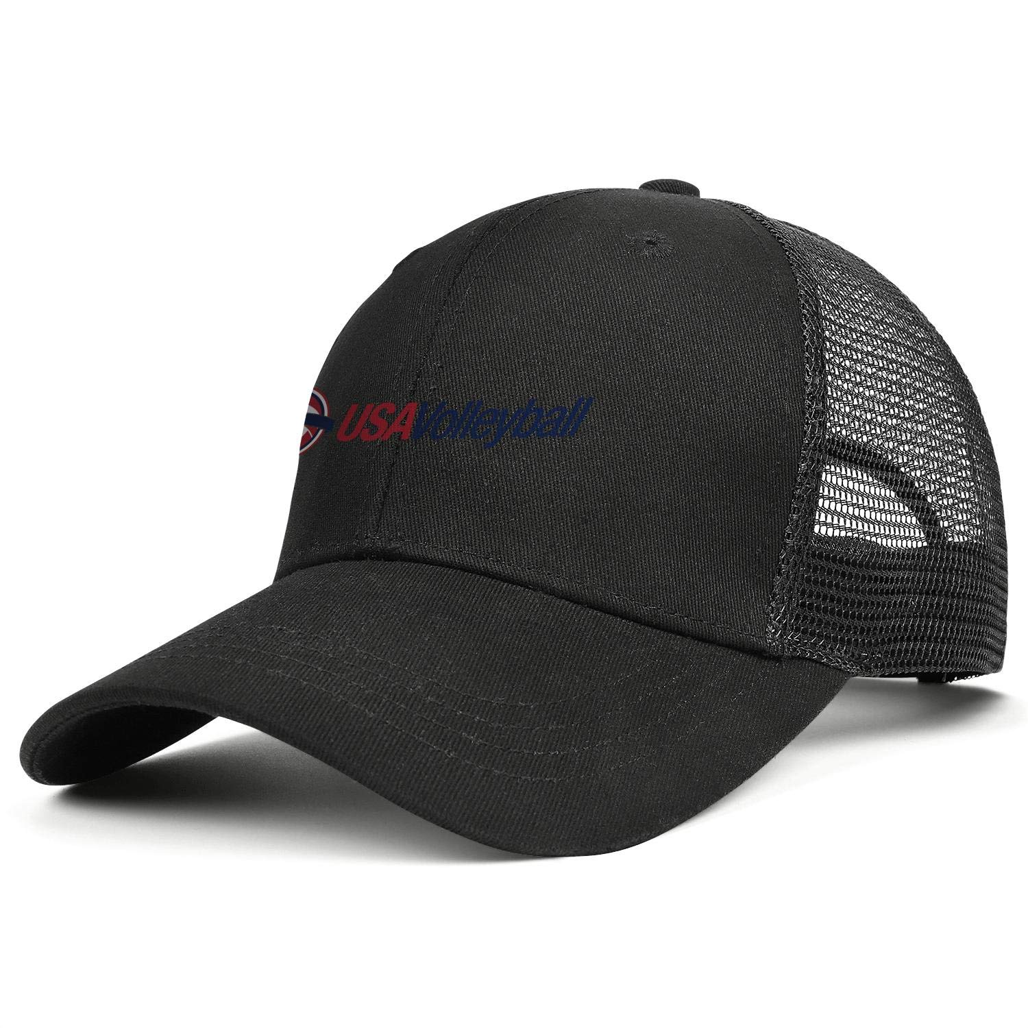 UKNnings USA Volleyball Logo Man Fitted Outside Mesh Snapback Cap
