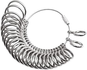 Medidor de tamaño de anillo, acero metálico, herramienta de ...