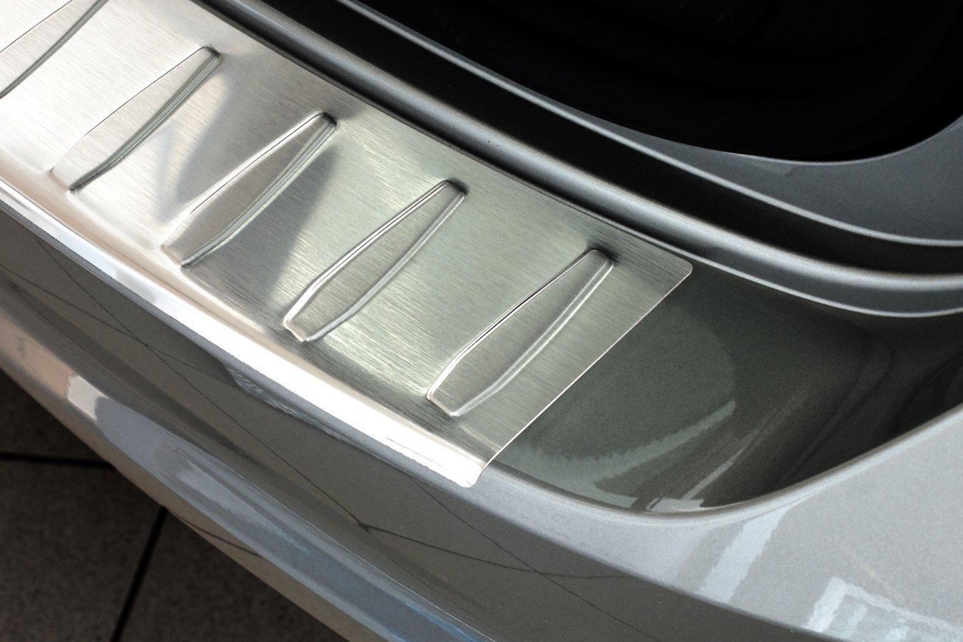 PKWelt Ladekantenschutz mit Abkantung Silber 100/% Edelstahl Einteilige 1 TLG