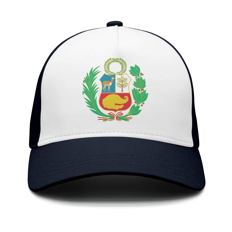 Voxpkrs Unisex Adulto Bandera de Perú Liso Ajustable Snapback Hip ...