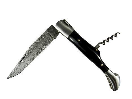 Acero de Carbono, cuchillo cuchillo Madera de Olivo Front ...