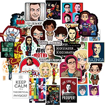 TV Show Themed Big Bang Theory Stickers for Laptop 50PCS,TBBT Stickers for Phone,Compute,Cars,Bicycles,Sheldon Decals