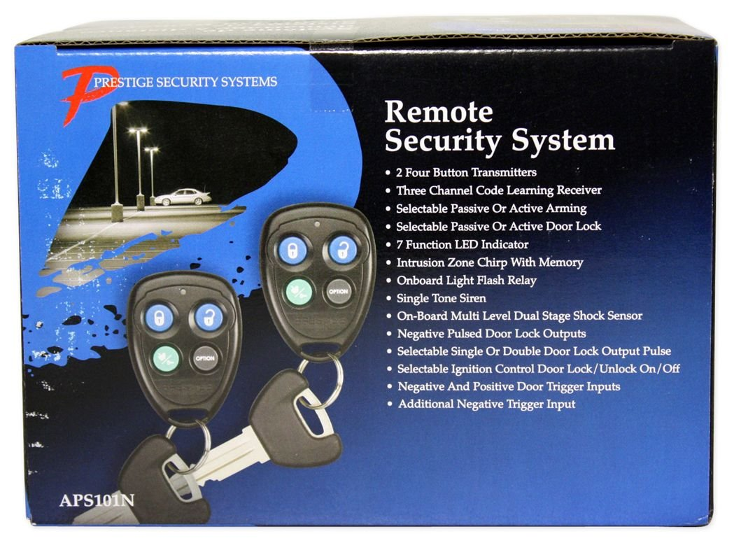 Audiovox Prestige Aps101n Remote Car Alarm Security Negative Pulse Will Provide A On Off Output Electronics
