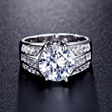 UMODE Jewelry 3.5ct Cubic Zirconia CZ Engagement
