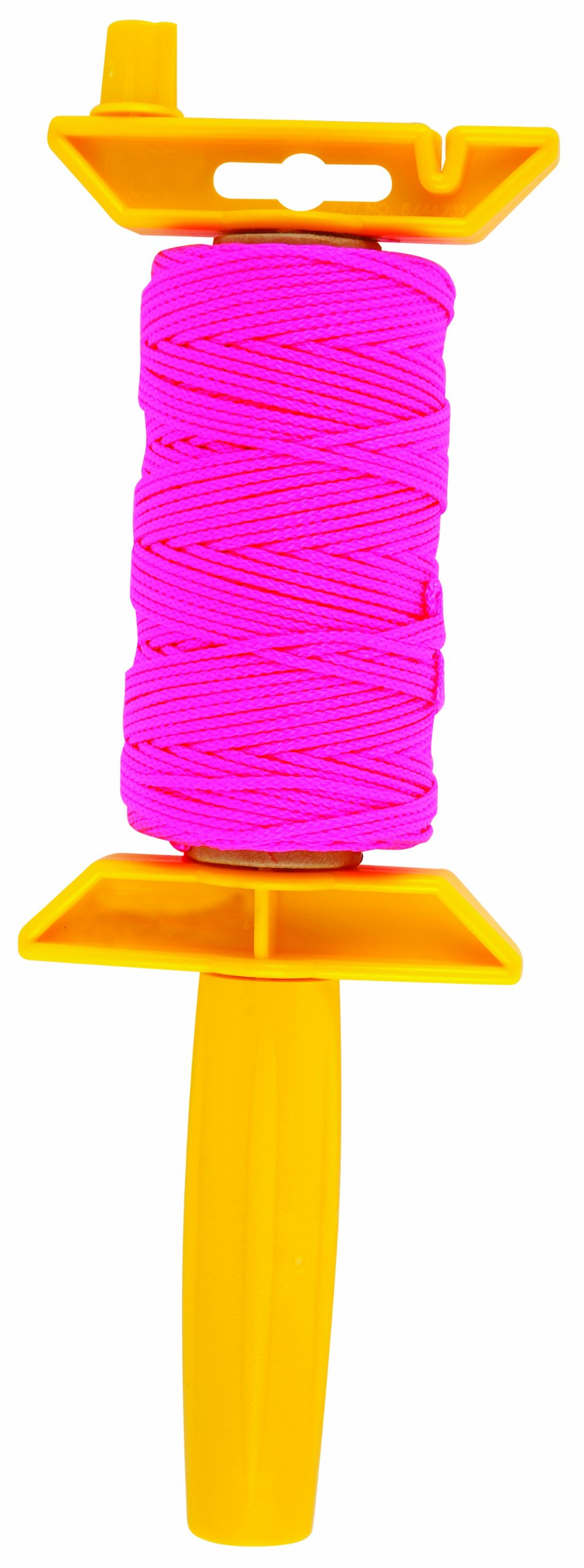 Task Tools T27112 250-Feet Braided Nylon Construction Line and Reel Holder, Pink