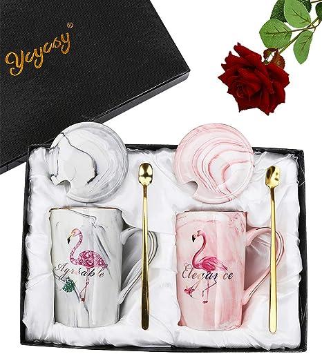 Amazon Com Flamingo Couple Coffee Mugs 12 5 Oz Wedding